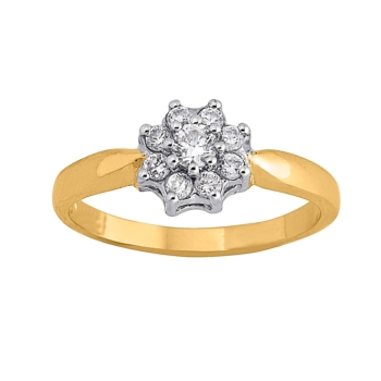 9ct Ladies Cluster Ring
