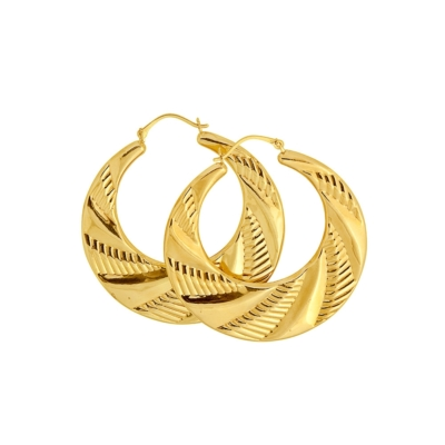 9ct Gold Large Creole