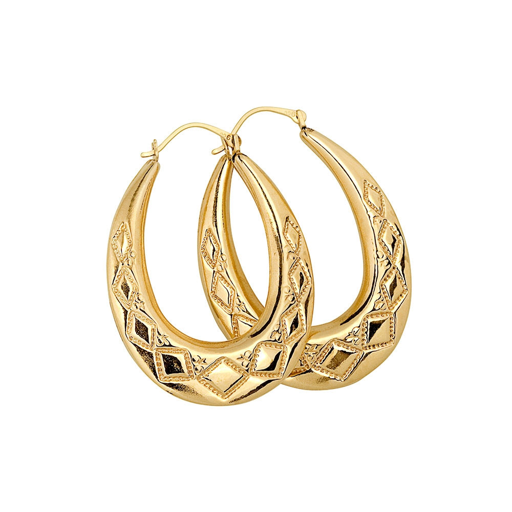 9ct Gold Creole Large