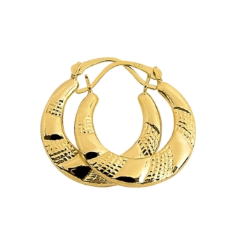 9ct Gold Creole 5 Rope