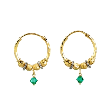 9ct Waris With Green Drop