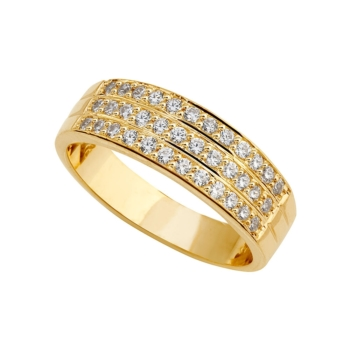 9ct 3 Row Eternity Ring