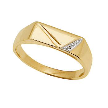 9ct Gents 3 Triangular Ring