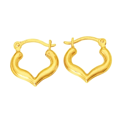 9ct Gold Creole Heart