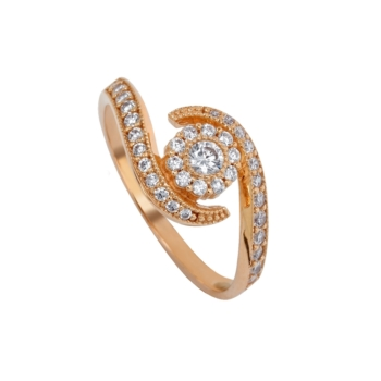 9ct Rose Gold Cluster Ring