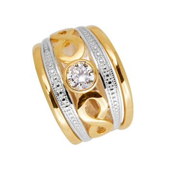 9ct Gold Infinity Tripset Cz