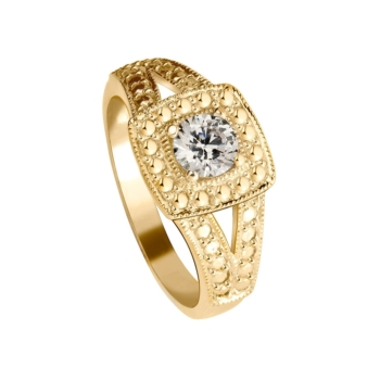 9ct Ladies Ring Square Top
