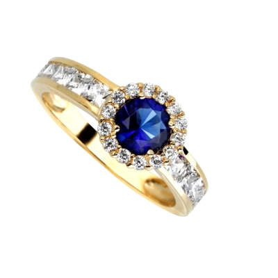 9ct Blue Stone Cluster Ring