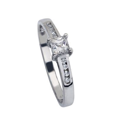 L997CZ White Gold Ladies Ring