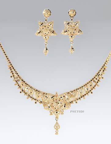 f1f5deb278d Ladies 9ct Gold Earring Pendant and chain set | Eldorado Jewellers