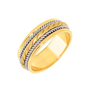 9ct Fancy Rope Band
