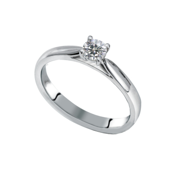 18ct White Gold 0.25ct Solitaire