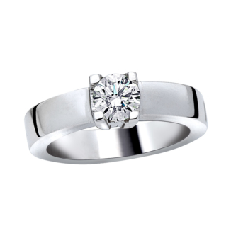 18ct White Gold Diamond Solitaire 0.50ct