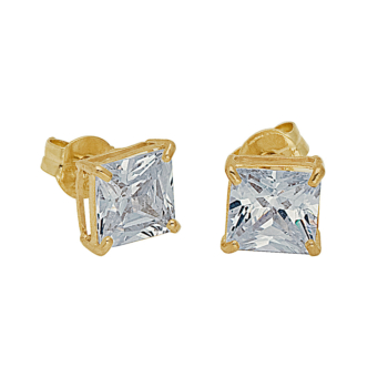 9ct 5mm Square Stud