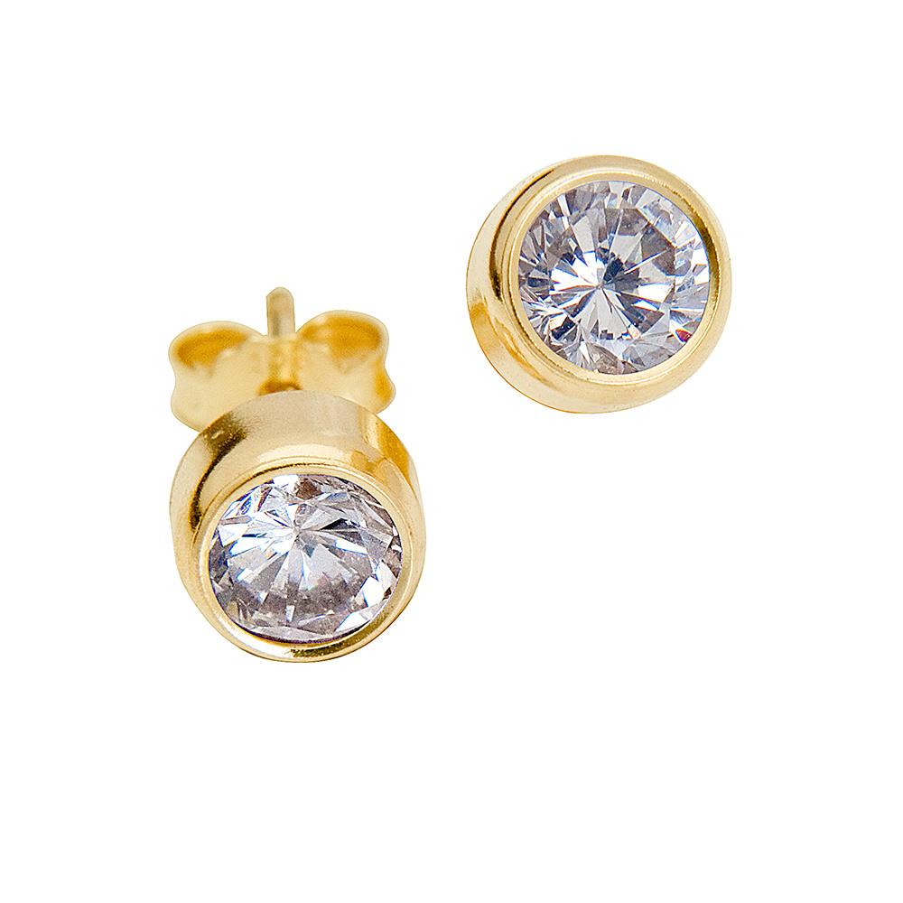 9ct gold stud earrings eldorado jewellers. Black Bedroom Furniture Sets. Home Design Ideas