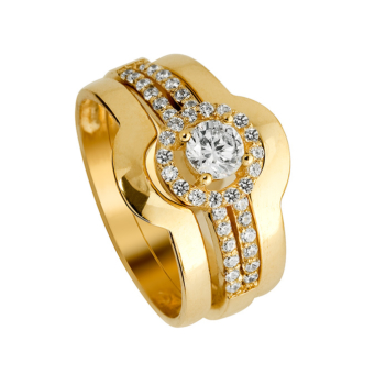 Cluster 9ct Tripset With Cubic Zirconia