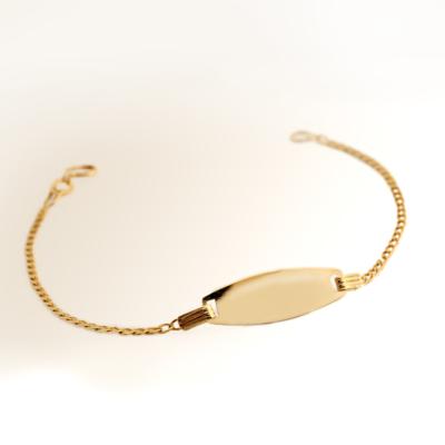 9ct Oval Baby Bracelet