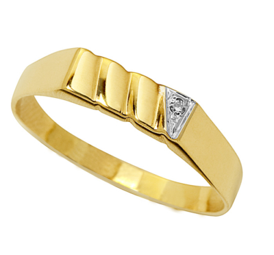 9ct Rectangular Diamond Ring