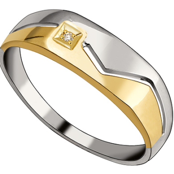 9ct Gold and Silver Gents Ring