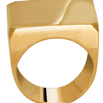 9ct Gold Gents Block Ring