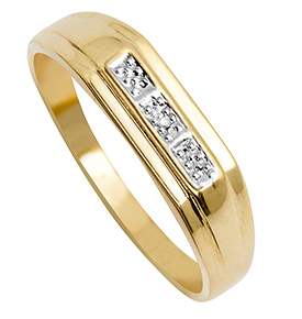 9ct Gents Diamond Ring