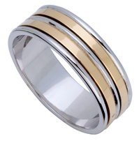 9ct Two Tone Band