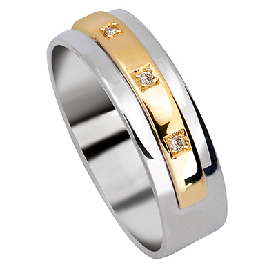 Superieur L1704 U2013 Gold And Silver Wedding Band