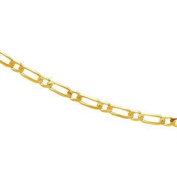 9ct Figaro 45cm Chain