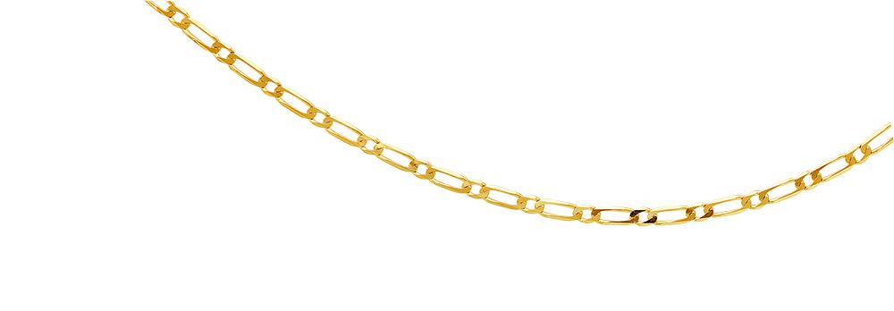 9ct Figaro 50cm Chain