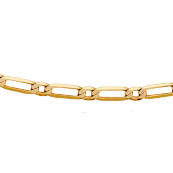 Figaro 9ct Chain