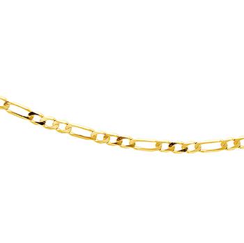 9ct Figaro 1+3 45cm Chain