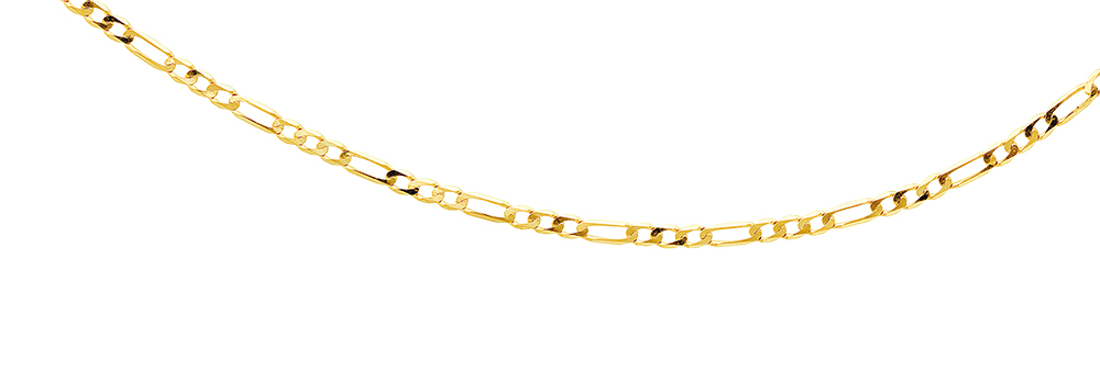 9ct Figaro 1+3 50cm Chain