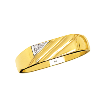 9ct Gents Cz Ring