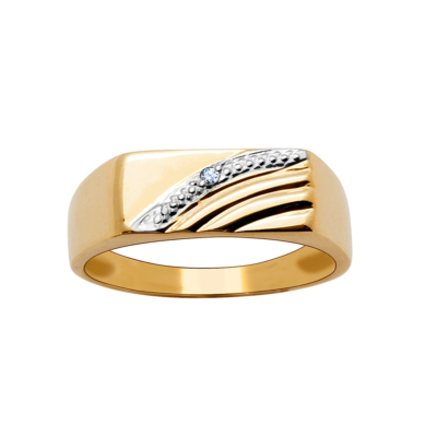 9ct Gents Wave Ring