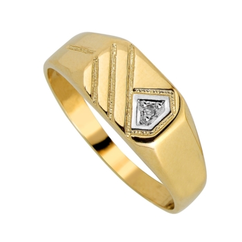 Gents 9ct Striped Ring