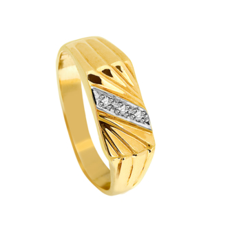 9Ct Gents Fan Diamond Ring