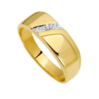 9Ct Gents 3Layer Rodium Diamond Ring