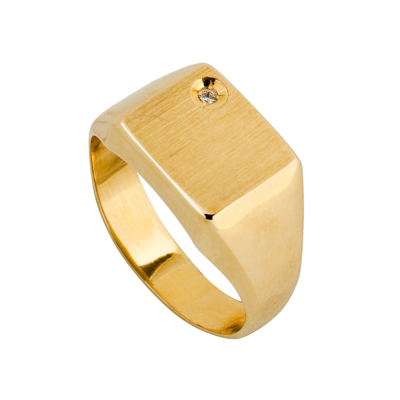 9ct Gold Square Top 10mm Cz