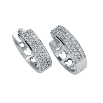 18ct White Gold Huggies