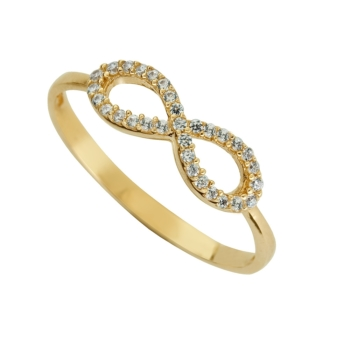 9ct Infinity Dress Ring