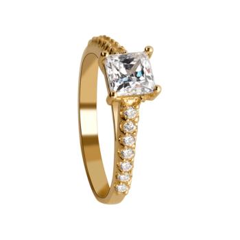 9ct Ladies Ring With Cubic Zirconia