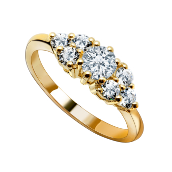 9ct Eternity Cz Ring