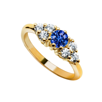 9ct Eternity Tanzinite Ladies Ring