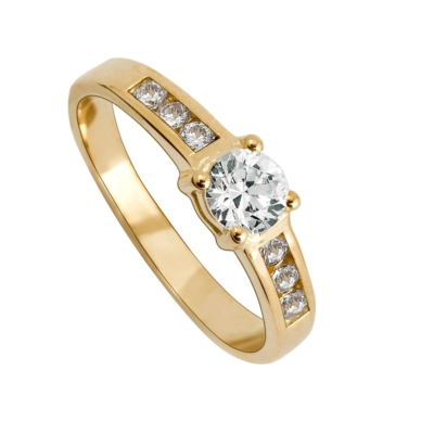 9ct Ladies Cubic Zirconia Dress Ring
