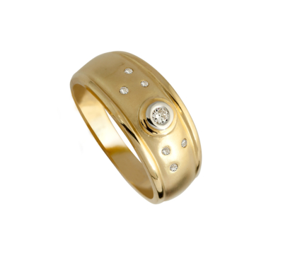 9ct Yellow Gold Ladies Stack Ring