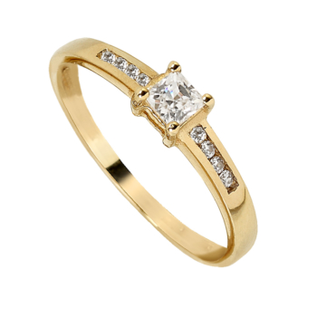 L997CZYG 9ct Yellow Gold Ladies Ring