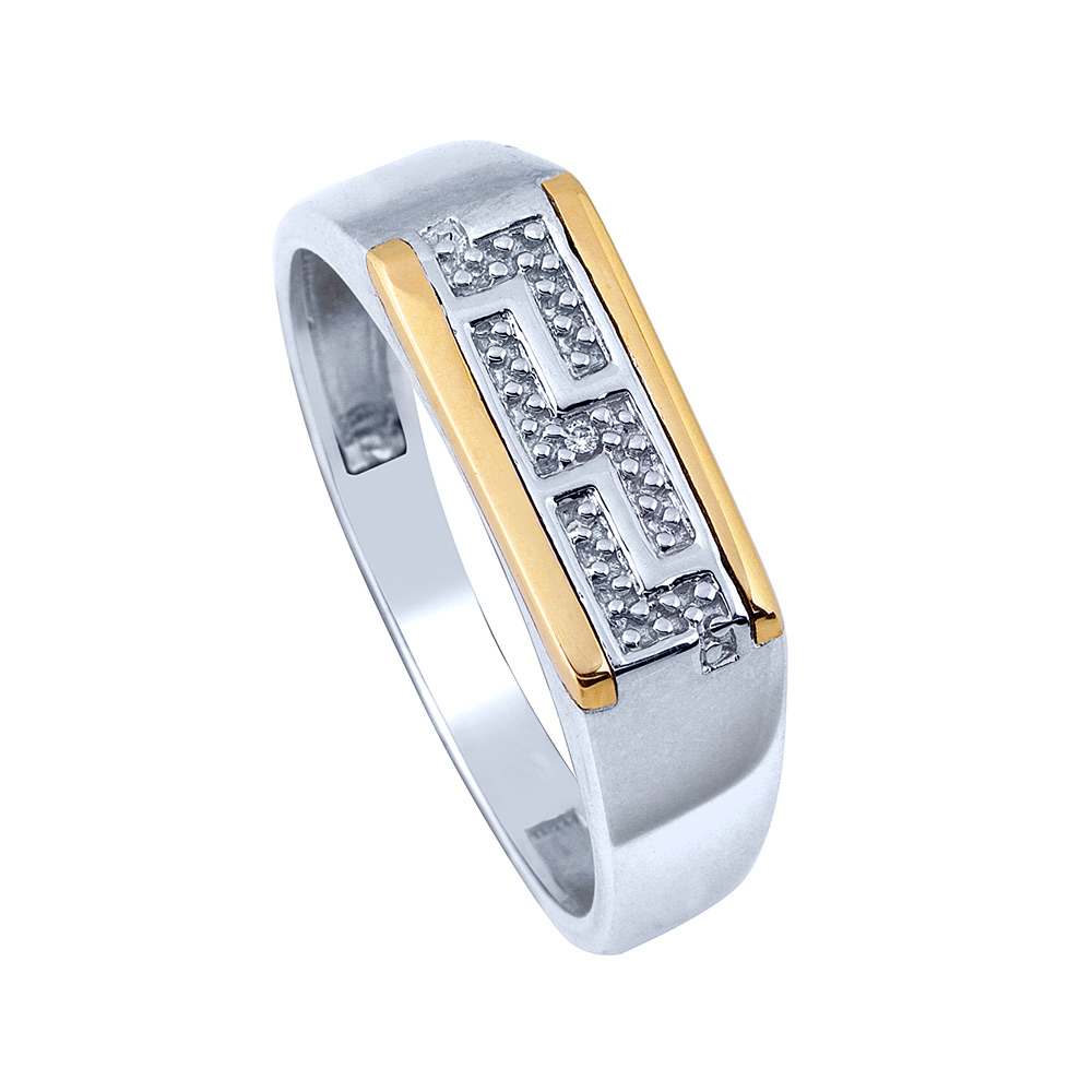 Gents Silver And Gold Ring | Eldorado Jewellers