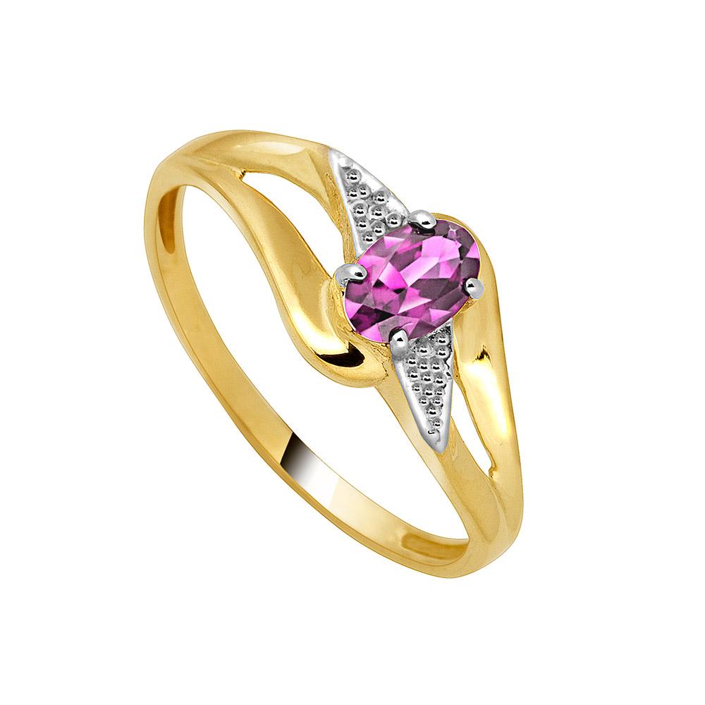 9ct Split Pink Stone Ladies Ring | Eldorado Jewellers