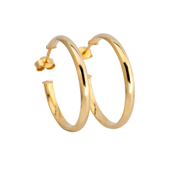 9ct Gold Hoop Earrings 18mm