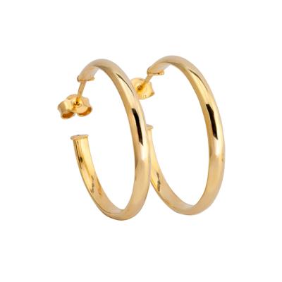 9ct Gold Hoop Earrings 18mm